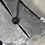 Thumbnail: Coussin de décoration VELOURS D'ARGENT en velours gris et noir boutonné