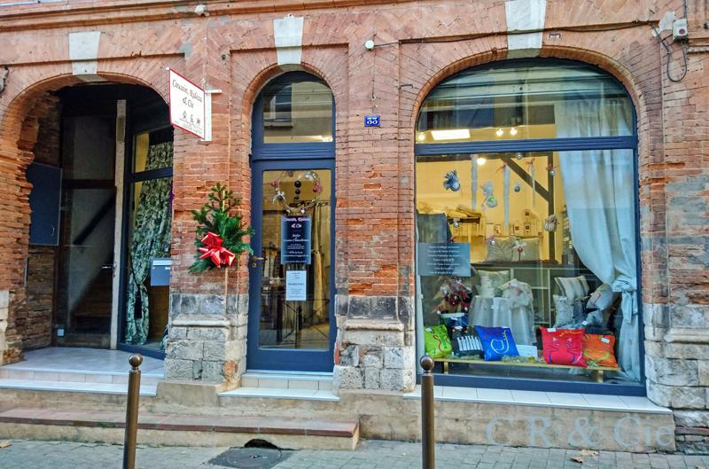 COUSSIN RIDEAU & Cie - vitrine de Noël