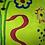 Thumbnail: Coussin de décoration FLOWER GUITAR en velours vert anis