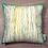 Thumbnail: Coussin GREEN BEAM imprimé rayures jaunes et vertes