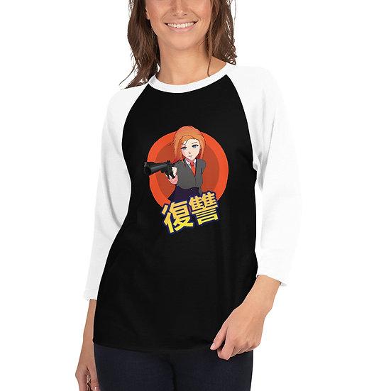 3/4 sleeve raglan shirt טי שירט לנשים 3\4 שרוול