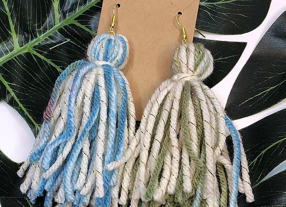 Tassel Earrings- Ivory Mix