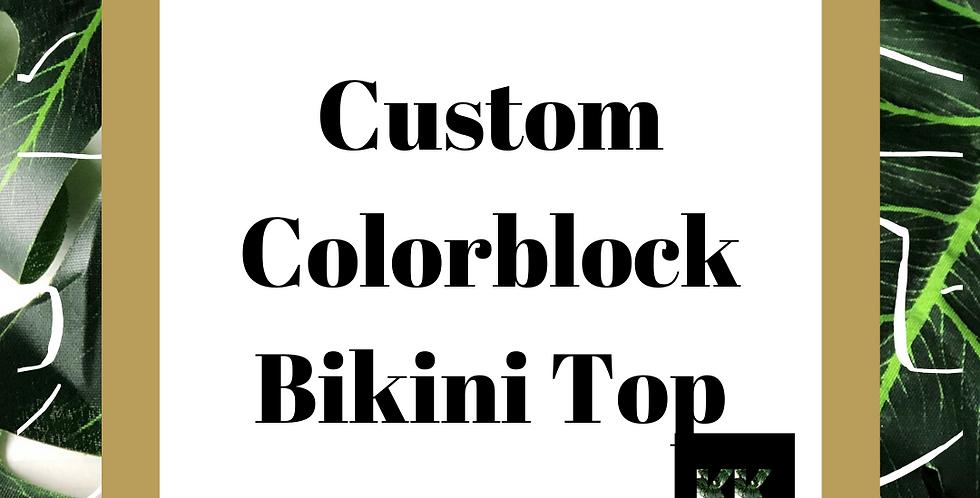 Custom Colorblock Bikini Top
