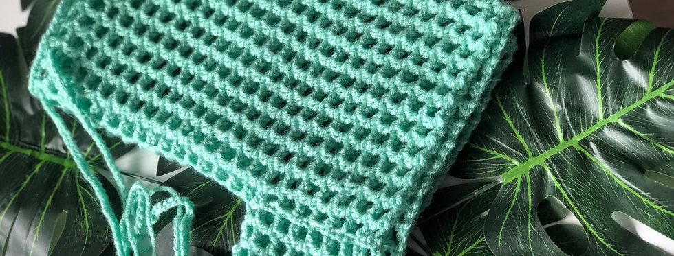 Aqua Blue Crochet Shorts
