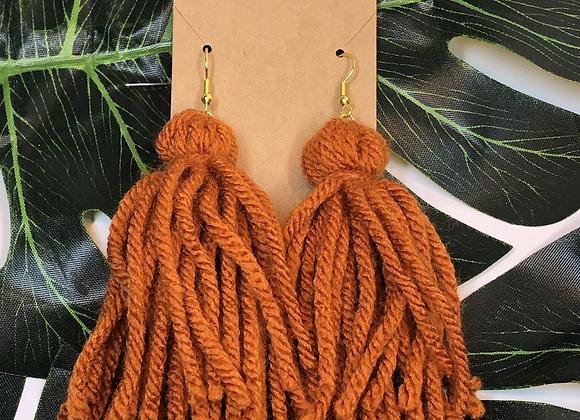 Tassel Earrings - Pumpkin