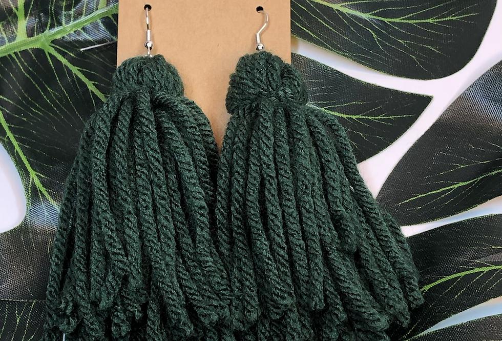 Tassel Earrings- Forest
