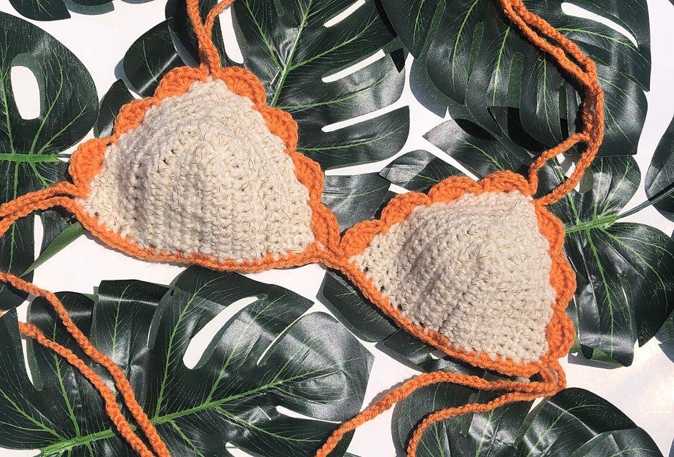 Scallop Bralette - Orange