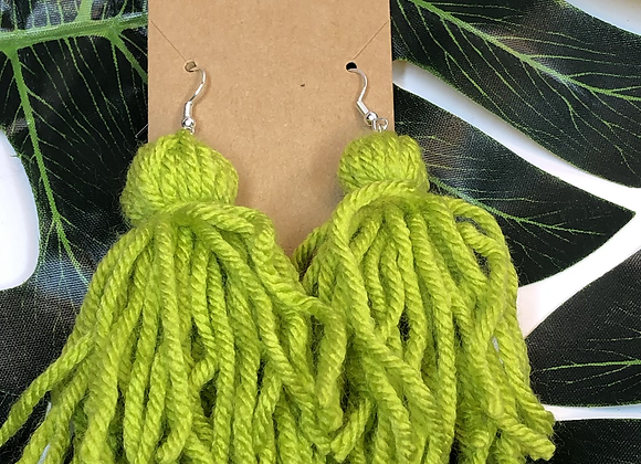 Tassel Earrings- Keylime