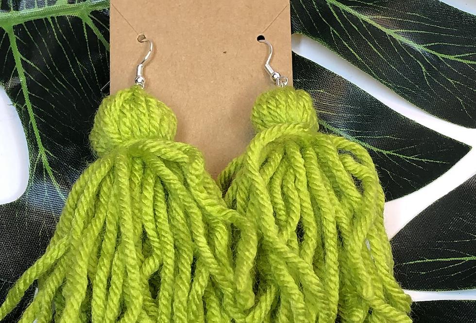 Tassel Earrings- Keylime
