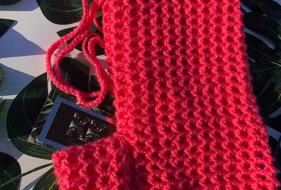 Tropical Pink Crochet Shorts