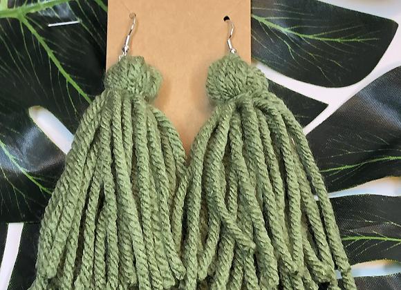Tassel Earrings- Sage