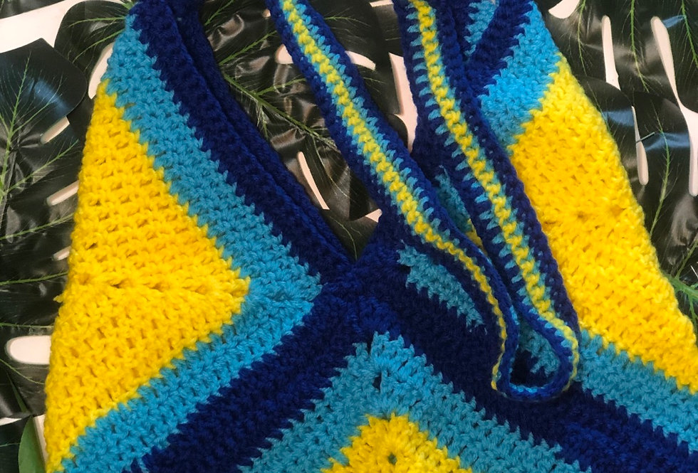 """Flounder"" Crochet Tote"