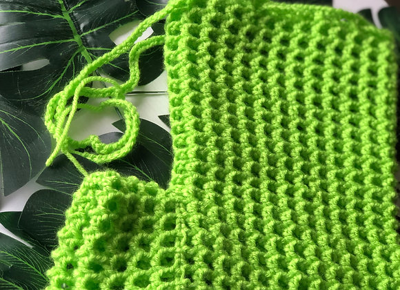 Lime Green Crochet Shorts