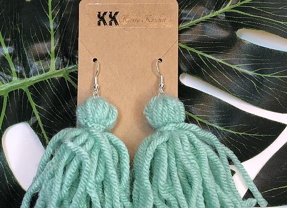 Tassel Earrings- Sky Blue