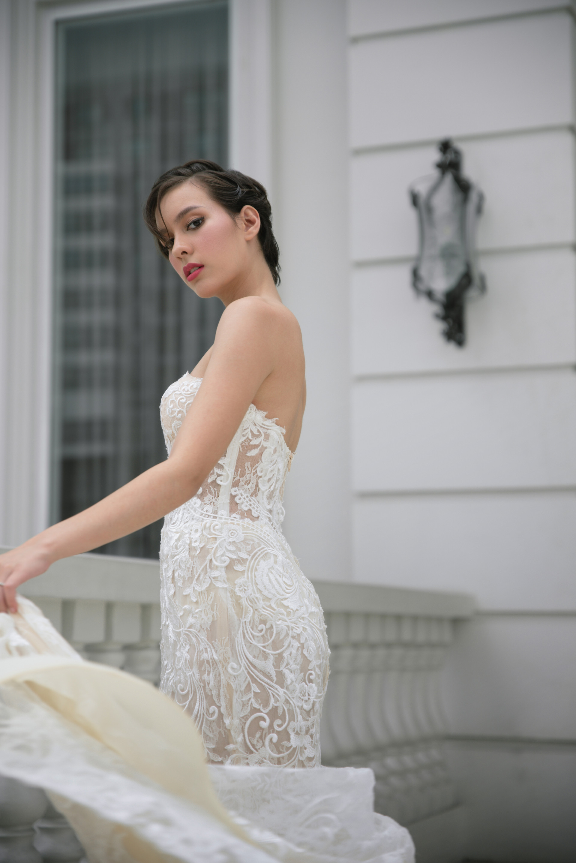 For Wedding Essentials Philippines Photo by Erron Ocampo of MetroPhoto Makeup by Nicole Ceballos Hair by Rudolf Davalos Gown by Hannah Kong