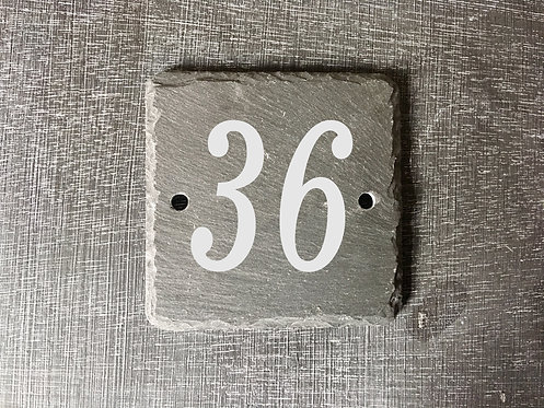 Slate House Number Sign 10cmx10cm