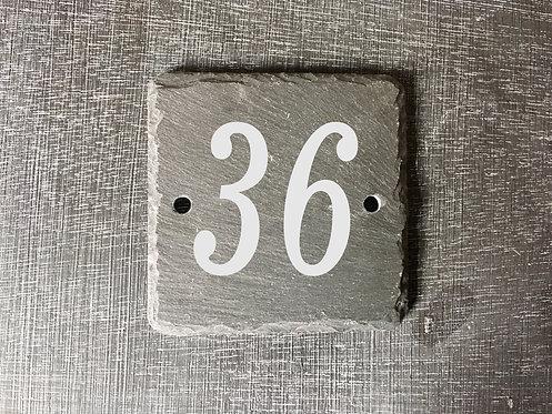 Slate House Number Sign 10cmx10cm