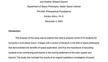 K12 Education for Space Settlement