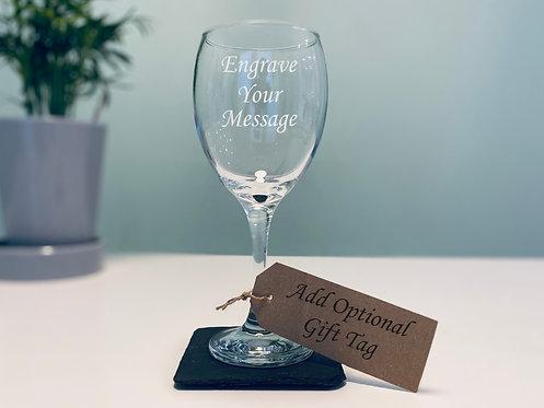 Elegant Stemmed Wine Glass