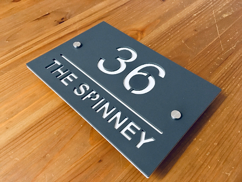 Modern stand-off house sign 220mmx145mm