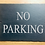 Thumbnail: Large Slate No Parking Sign 29cmx21.5cm