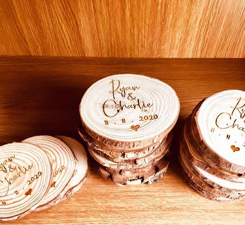 Bulk Rustic Log Disc 9cm-10cm (Sample)