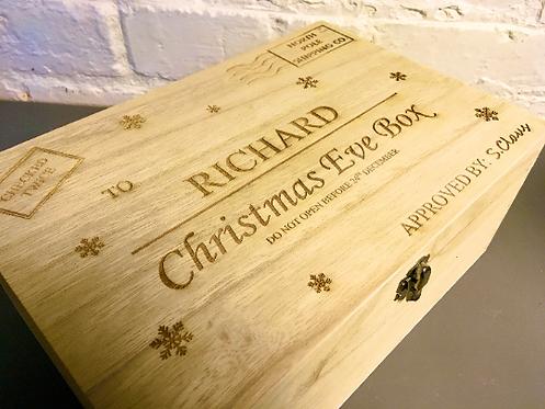 Custom engraved Christmas Eve box 30cmx20cmx13cm