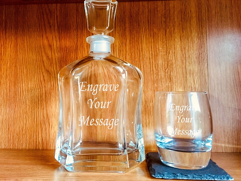 Classic Whisky Decanter and Tumbler Set