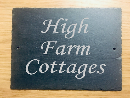 Large Slate House Name Plaque 29cmx21.5cm