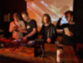 Bostock playing b2b with other underground DJ's