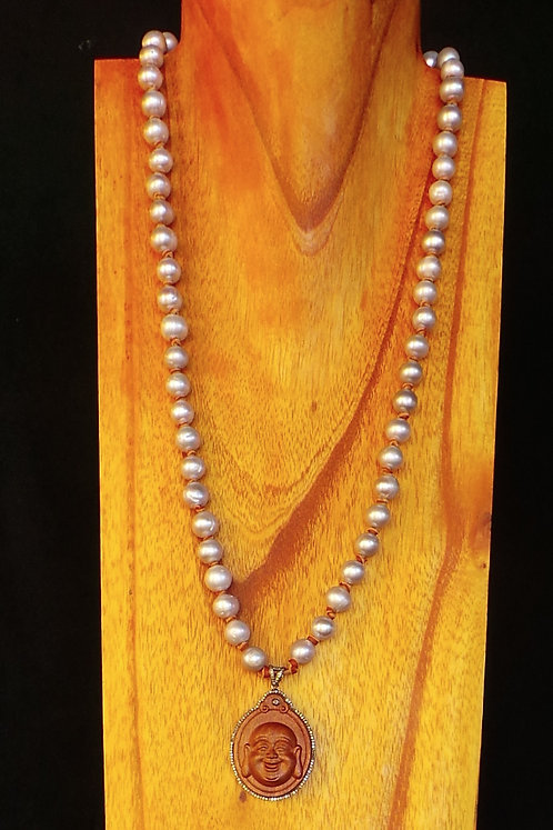 N004 GRAY PEARL Necklace