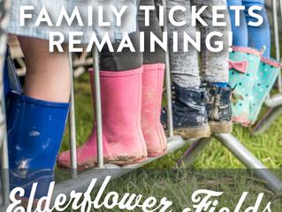 Elderflower Fields only 100 tickets remaining!