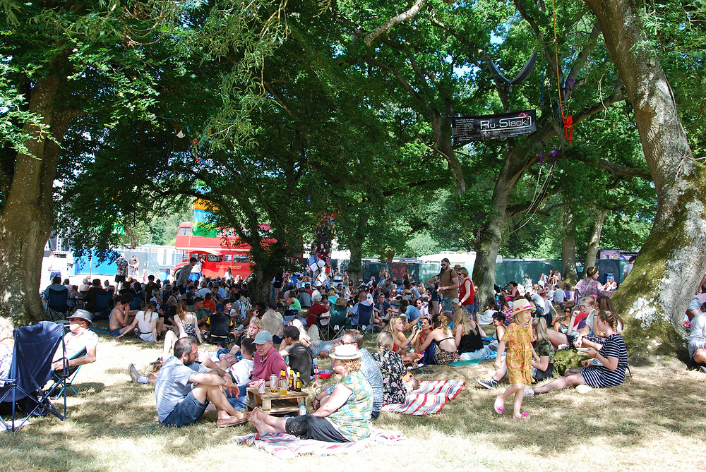 Shaded area next to the main stage. Blissfields 2017