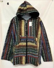 QU 94 Hooded Cotton Jacket - Yellow  Green  Brown