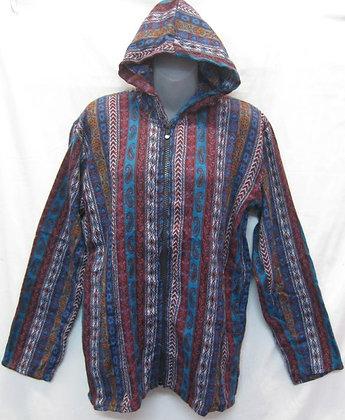 FE 10 Hooded Jacket - Turquoise-Maroon