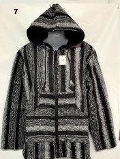 Qu 94 Hooded Cotton Jacket -  Black White
