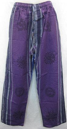 Cotton Pants Purple-Red kc951