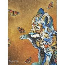 Cub Wolf & Butterflies