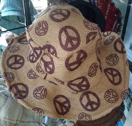 Peace Sign Hemp Hat