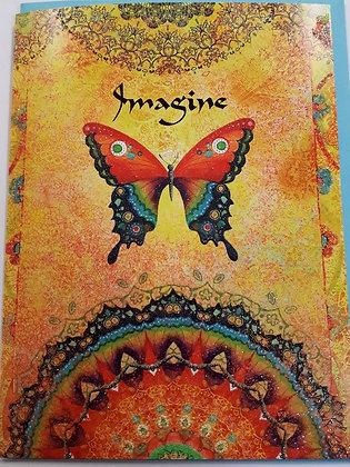 Butterfly Glitter Blank Card
