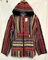 QU 94 Hooded Cotton Jacket - Red Multi
