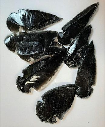 Black Obsidian Arrow Head