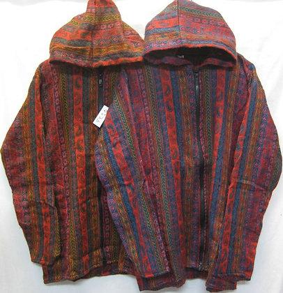 FE 10 Hooded Jacket - Red-Multi