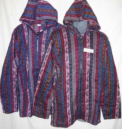 FE 10 Hooded Jacket - Pink-Purple-Paisley
