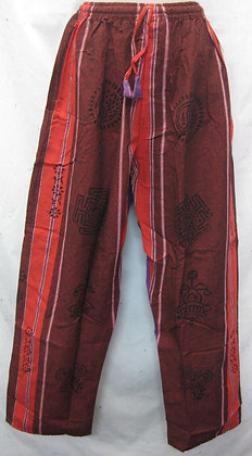 Cotton Pants Red- Maroon kc591