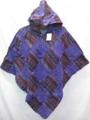 G131 Short Triangle Poncho - Purple