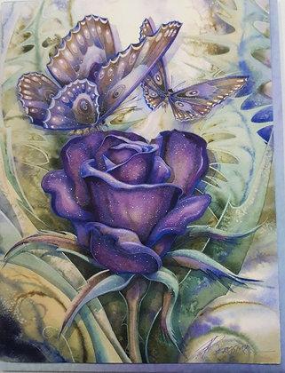 Glitter Purple Rose