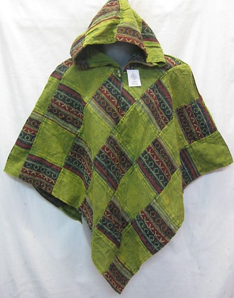 G131 Short Triangle Poncho - Green