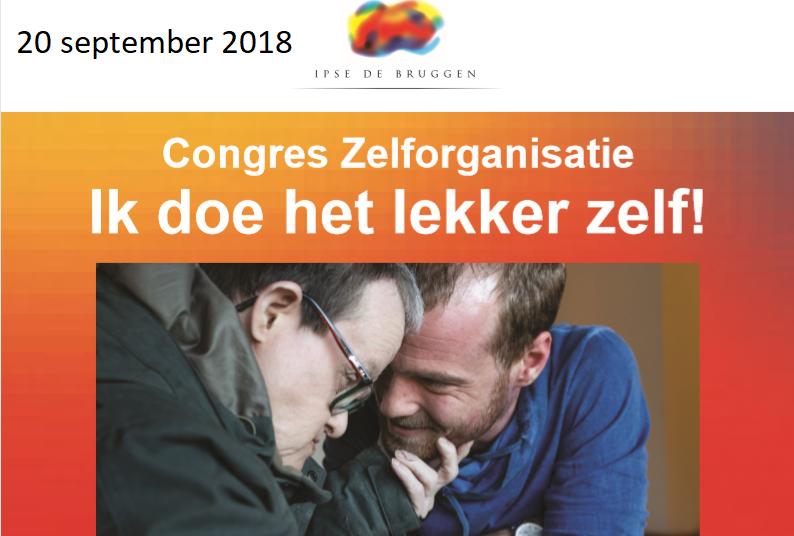 Aankondiging Congres Zelforganisatie 20 september 2018