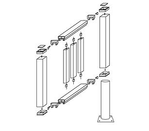 Схема монтажа ограждения Holzhof.